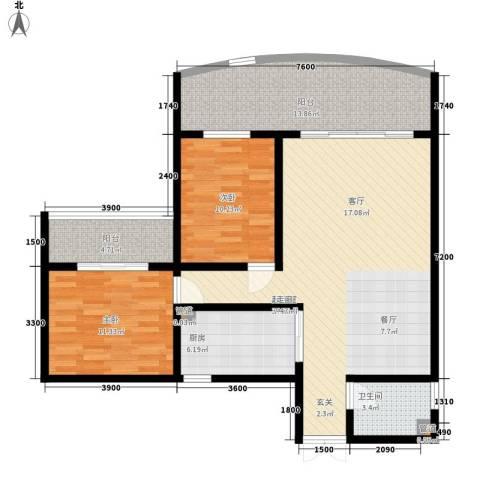 洲际半岛新城2室0厅1卫1厨86.00㎡户型图