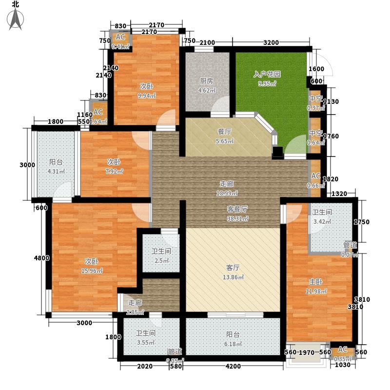 亿龙金河湾137.86㎡亿龙金河湾户型图B2户型4室2厅3卫1厨户型4室2厅3卫1厨