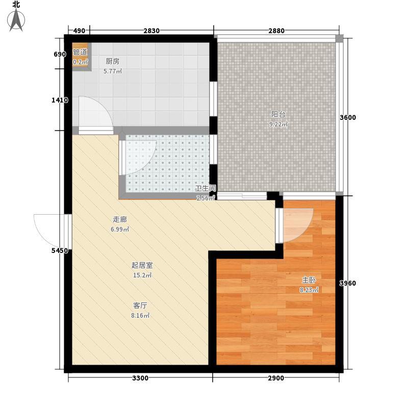 仁和金沙59.80㎡仁和金沙户型图C1型1室1厅1卫1厨户型1室1厅1卫1厨