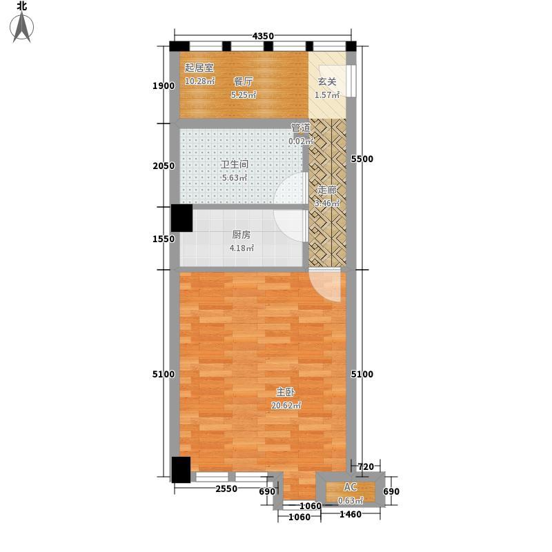 万和新城广场64.39㎡万和新城广场户型图U81室2厅1卫1厨户型1室2厅1卫1厨