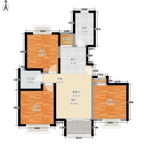 江南清漪园3室1厅1卫1厨110.00㎡户型图
