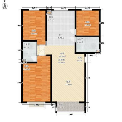 山水宜居3室0厅2卫0厨128.00㎡户型图