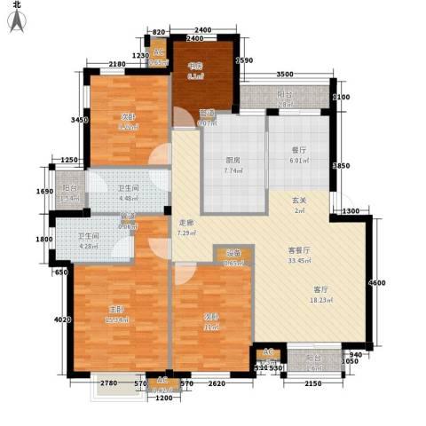 时代金贸4室1厅2卫1厨142.00㎡户型图