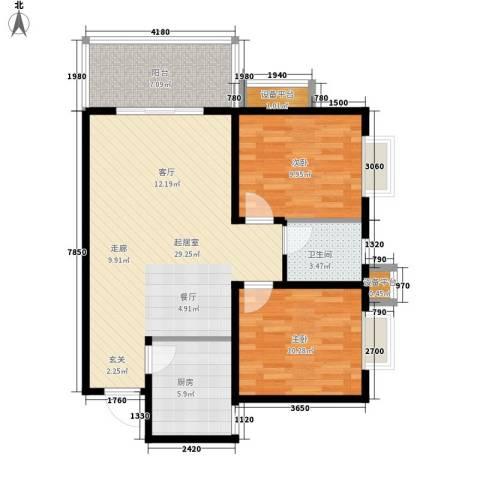 同祥城2室0厅1卫1厨95.00㎡户型图