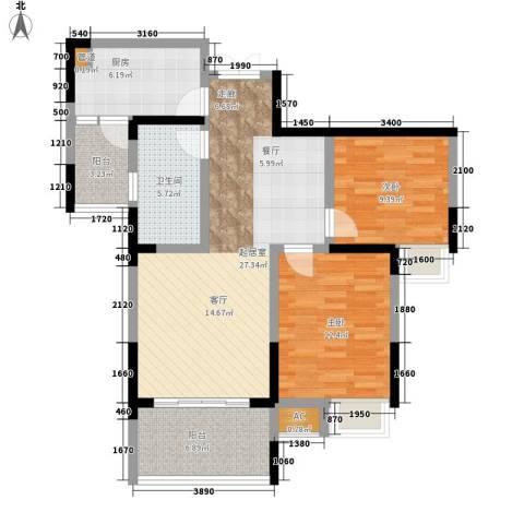 英郡2室0厅1卫1厨94.00㎡户型图
