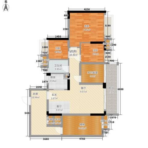 御龙湾3室1厅1卫1厨94.22㎡户型图