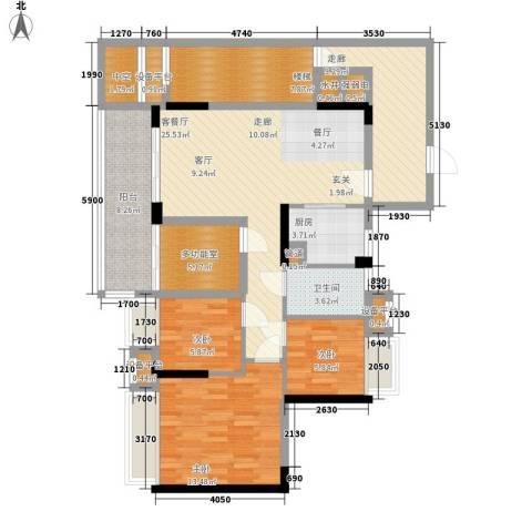 御龙湾3室1厅1卫1厨93.31㎡户型图