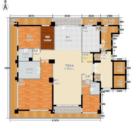 绿城之江1号4室0厅3卫1厨325.82㎡户型图