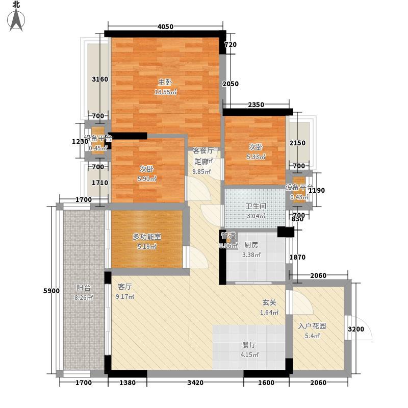 御龙湾88.86㎡御龙湾户型图1座03单位3室2厅1卫1厨户型3室2厅1卫1厨