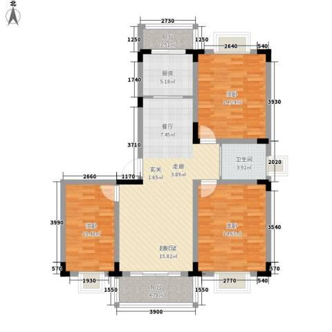 宏图上逸园3室0厅1卫1厨100.00㎡户型图