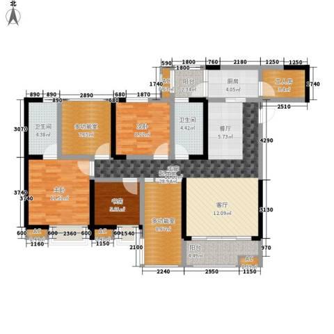 金辉融侨半岛云满庭D区3室0厅2卫1厨163.00㎡户型图