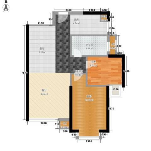 福乐凯公寓2室0厅1卫0厨63.11㎡户型图