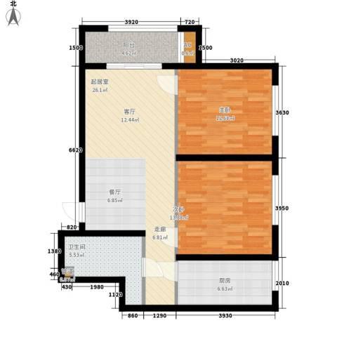 金色骑士三期2室0厅1卫1厨81.00㎡户型图