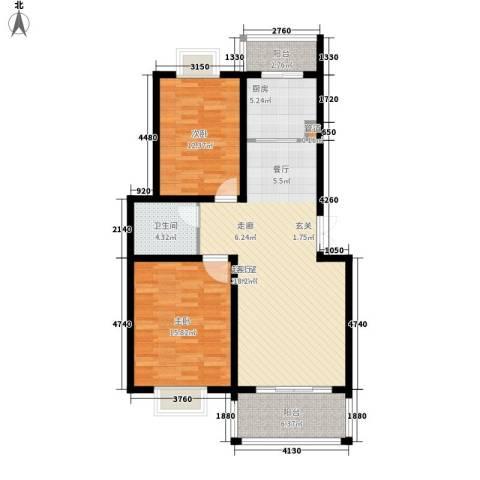 宏图上逸园2室0厅1卫1厨112.00㎡户型图