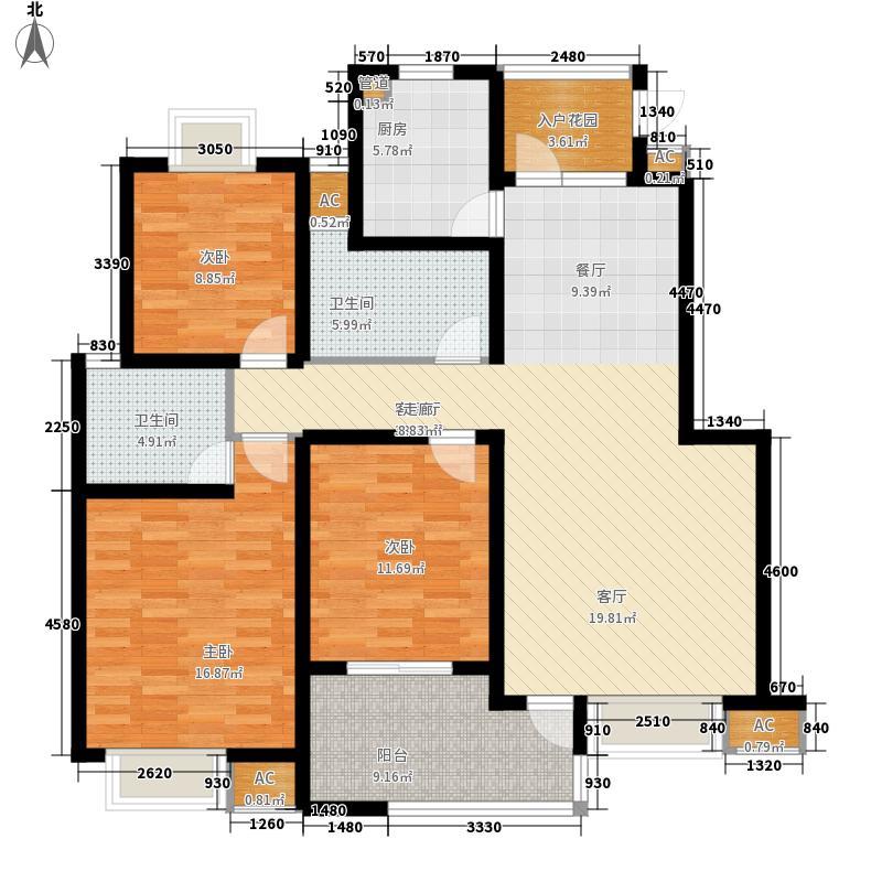 香城颐园户型图C2户型 3室2厅2卫
