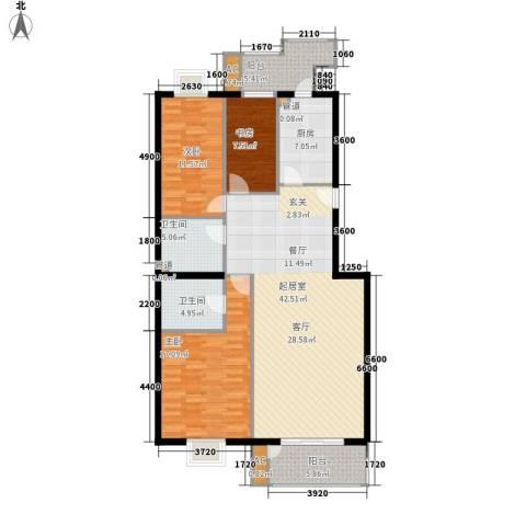 太平路40号3室0厅2卫1厨120.61㎡户型图