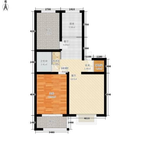 秦房 里仁居1室0厅1卫1厨87.00㎡户型图
