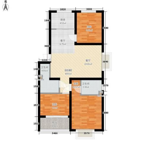 秦房 里仁居3室0厅2卫1厨98.00㎡户型图