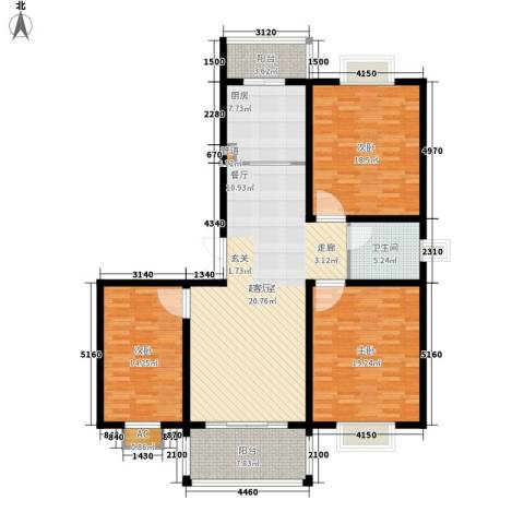 宏图上逸园3室0厅1卫1厨113.93㎡户型图