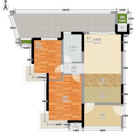 荣民国际公寓2室0厅1卫0厨130.00㎡户型图