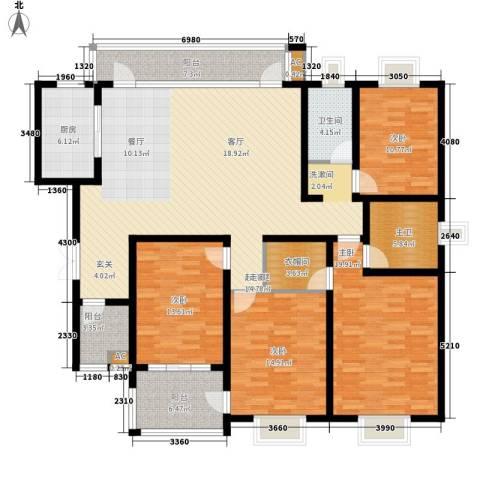 宏图上逸园4室0厅1卫1厨168.00㎡户型图
