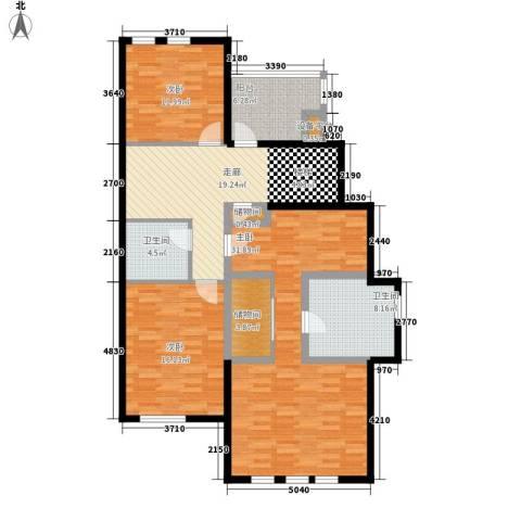 龙湖·花盛香醍3室0厅2卫0厨147.00㎡户型图