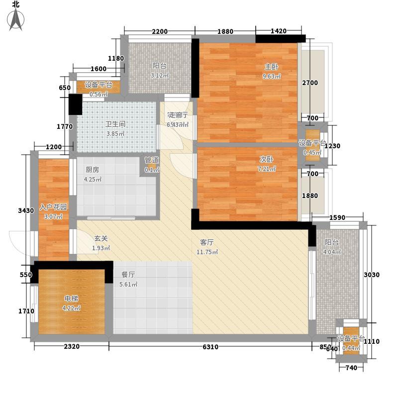 御龙湾76.23㎡御龙湾户型图1座02单位2室2厅1卫1厨户型2室2厅1卫1厨