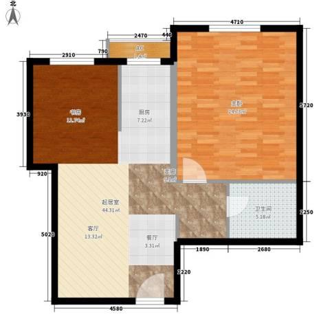 仙都绿苑1室0厅1卫0厨83.23㎡户型图