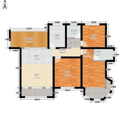 中南世纪锦城3室0厅2卫1厨144.00㎡户型图