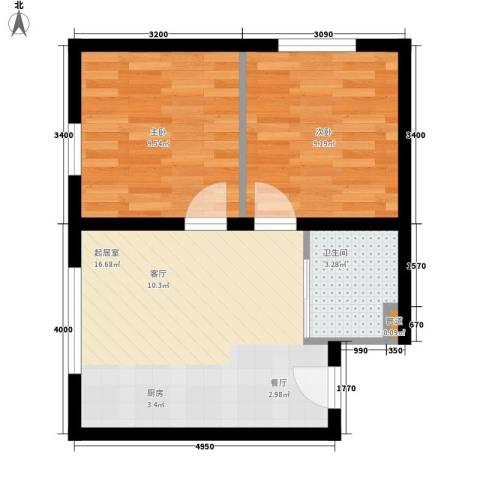 天胜电业小区2室0厅1卫0厨55.00㎡户型图