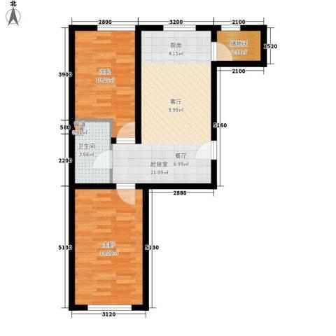 天胜电业小区2室0厅1卫0厨74.00㎡户型图