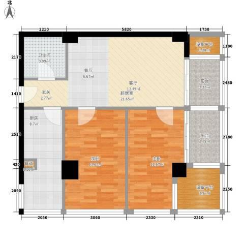 都城MOMA2室0厅1卫1厨84.00㎡户型图