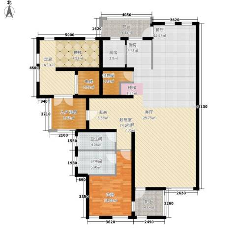 龙湖·花盛香醍1室0厅2卫1厨297.00㎡户型图