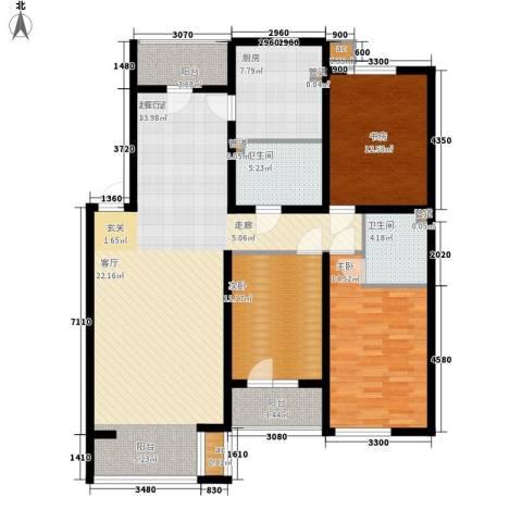 名仕雅居3室0厅2卫1厨125.00㎡户型图