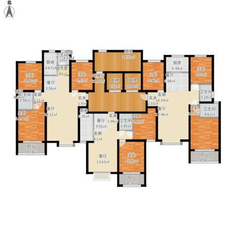 丽景华苑8室3厅5卫3厨405.00㎡户型图