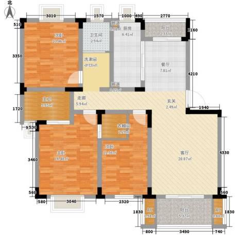宏图上逸园3室0厅1卫1厨133.00㎡户型图