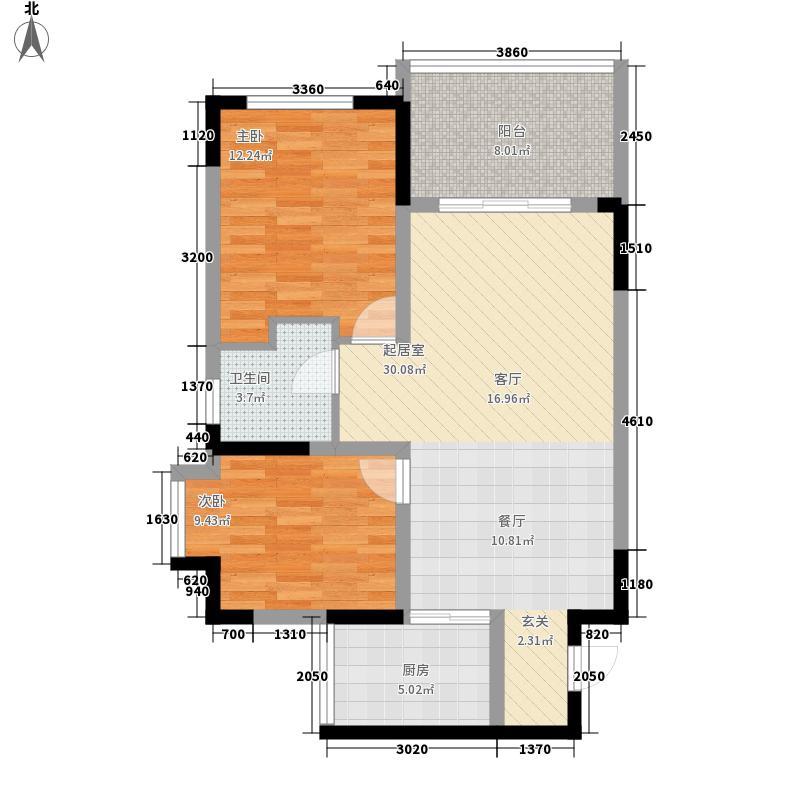 海泽雅居78.34㎡海泽雅居户型图户型四2室1厅1卫1厨户型2室1厅1卫1厨