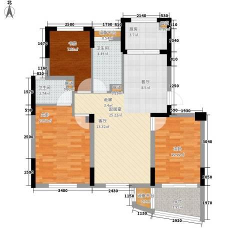 东新园3室0厅2卫1厨125.00㎡户型图