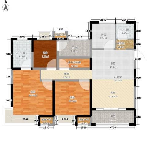 保利中央公园3室0厅2卫1厨156.00㎡户型图