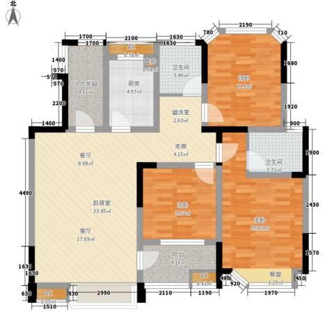 御景城3室0厅2卫1厨118.00㎡户型图
