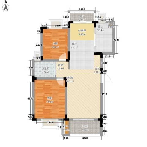 宏图上逸园2室0厅1卫1厨98.00㎡户型图