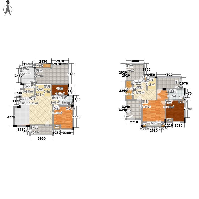 亿城天筑185.00㎡亿城天筑户型图一期合墅2、3#标准层D户型4室2厅2卫1厨户型4室2厅2卫1厨