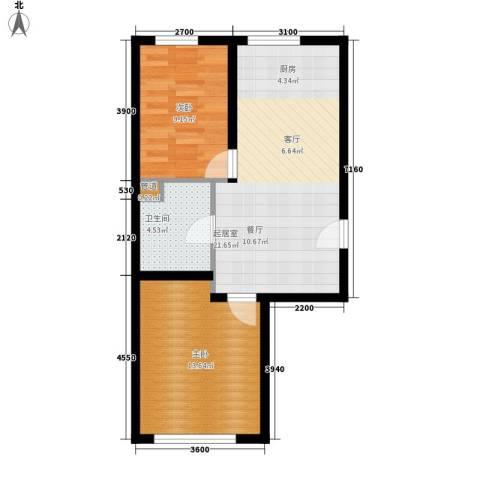 电院小区2室0厅1卫0厨70.00㎡户型图