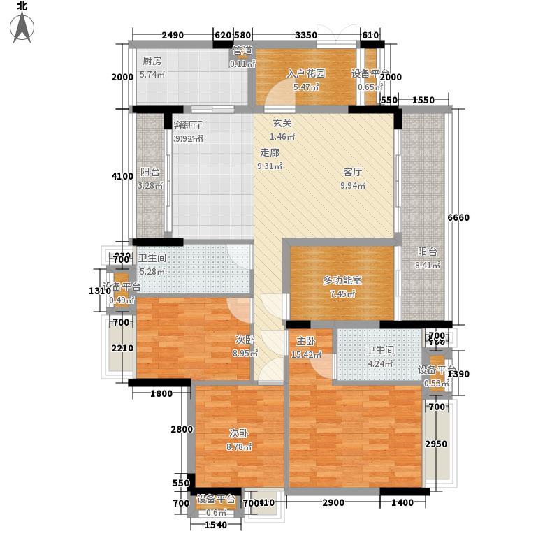 御龙湾127.11㎡御龙湾户型图6座02单位3室2厅2卫1厨户型3室2厅2卫1厨