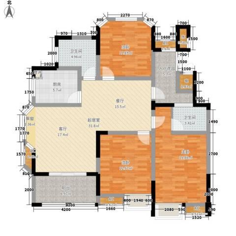 御景城3室0厅2卫1厨125.00㎡户型图