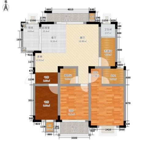 宏图上逸园3室0厅1卫1厨127.00㎡户型图