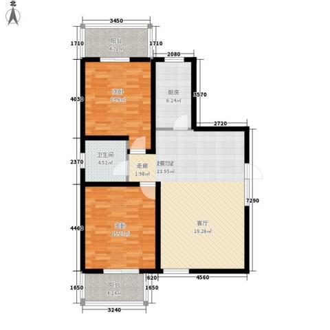 凯旋广场2室0厅1卫1厨93.00㎡户型图