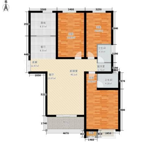 凯旋广场3室0厅2卫1厨135.00㎡户型图
