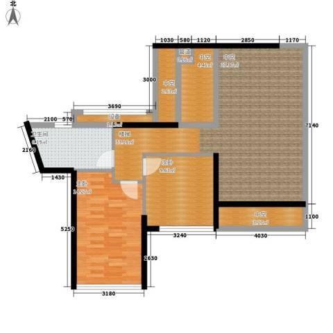 大学印象2室0厅1卫0厨87.00㎡户型图
