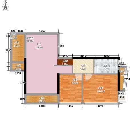 大学印象2室0厅1卫0厨98.00㎡户型图